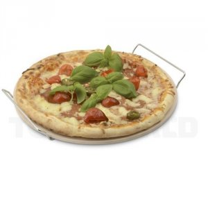 Pizza bagesten m/holder Ø33 cm DAY