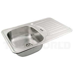 Stålvask med afløbsbakke juvel