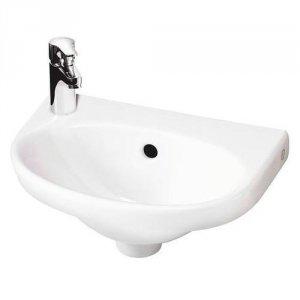 Billede af Håndvask til vægmontering Gustavsberg Nautic 5540 med hanehul til venstre 400x