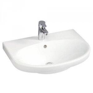 Billede af Håndvask til vægmontering Gustavsberg Nautic 5556 med Ceramicplus 560x430mm