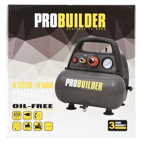 Opdateret ProBuilder Kompressor 6 liter 1,5hk PK84